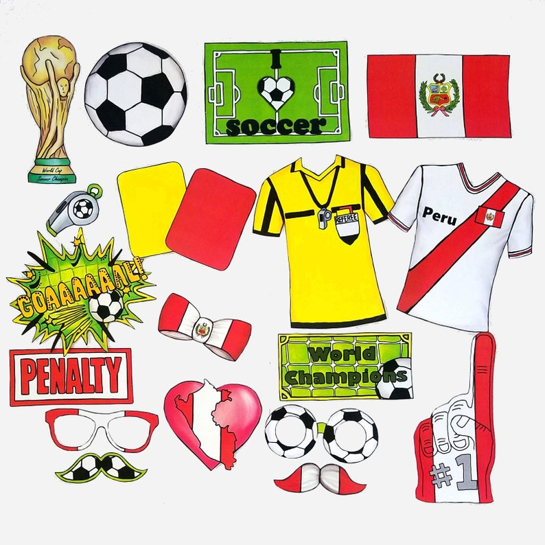 91f6f971e World Cup PERU soccer photo booth props the ultimate fan