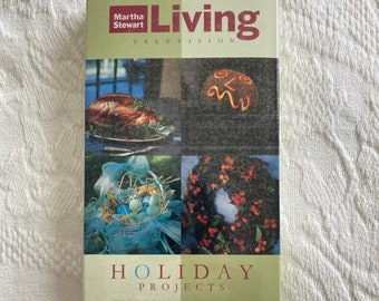 Martha Stewart Living RARE VHS~The Best of Martha Stewart Living Television~Holiday Projects throughout the year~1994~DIY~factory sealed