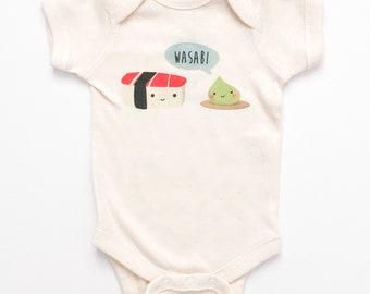7536b1a03f7c Sushi Unisex Cute Kawaii Baby One Piece