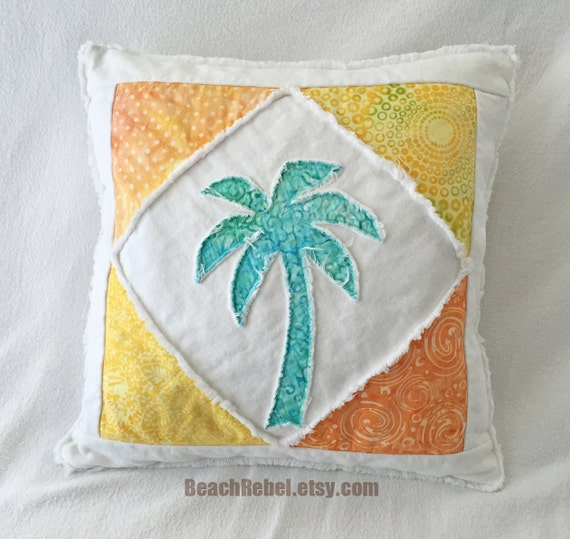 Canadian Inspired Home Decor Canada Pillow Via Etsy: Palm Tree Pillow Cover Boho Surf Style Batiks In Sunny