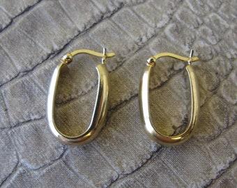 85069c95246c6 Italian gold hoops | Etsy