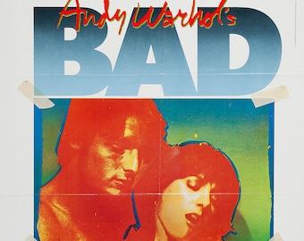 Andy Warhol's BAD original 1977 movie poster John Van Hamersveld design