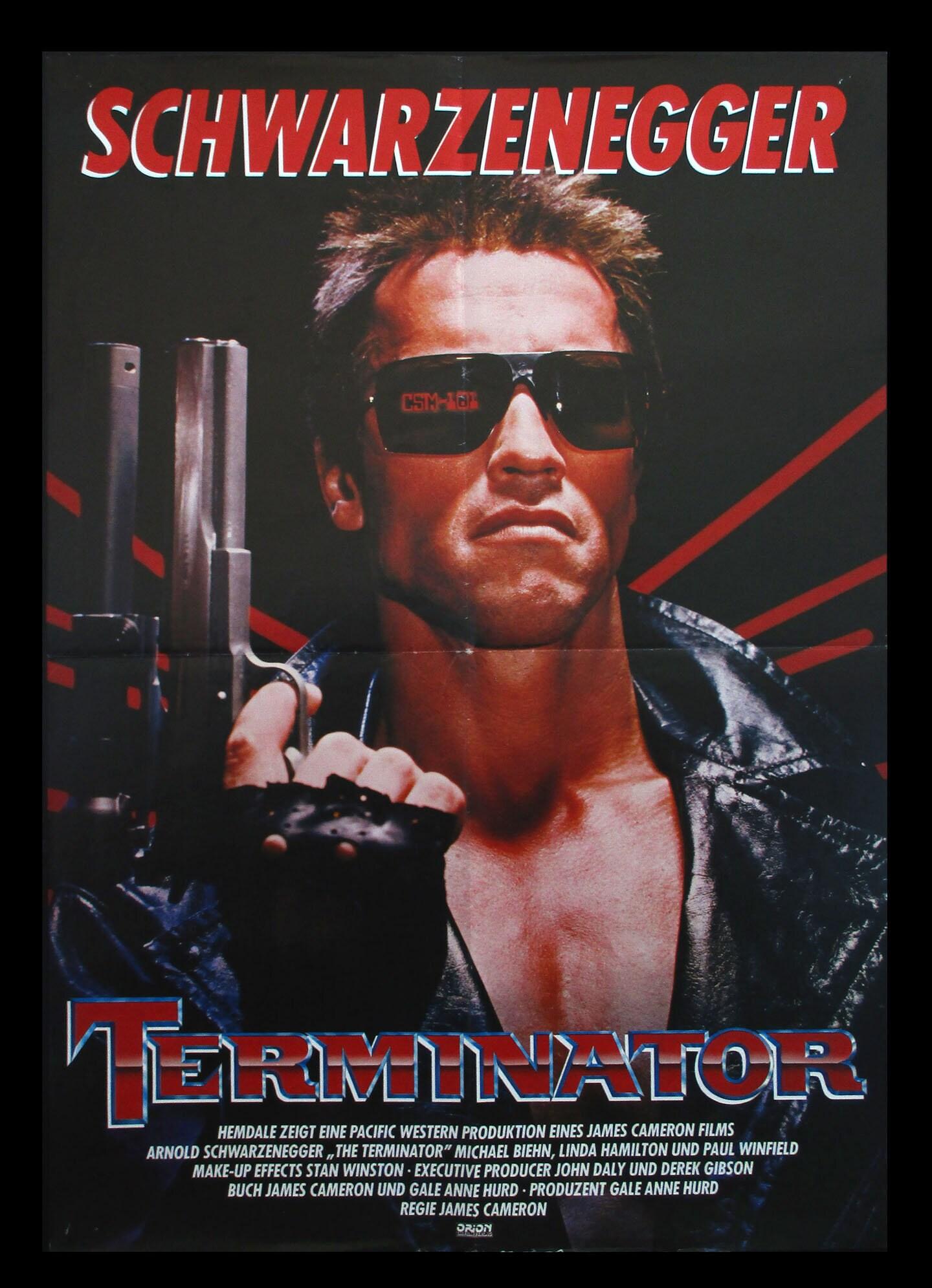 The Terminator Original 1984 Movie Poster Arnold Etsy