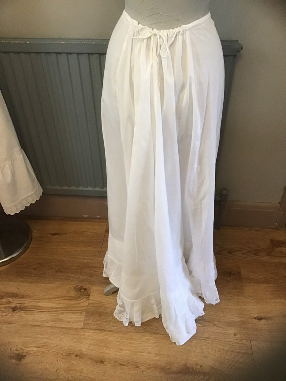 Beautiful cotton bustle petticoat