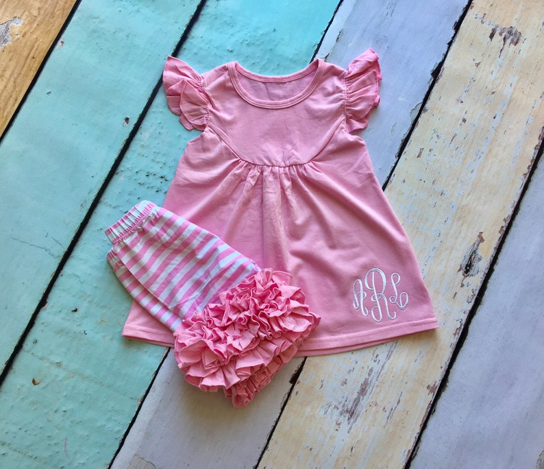 Size 4 Boutique Light Pink Icing Shorties Ruffled Shorts