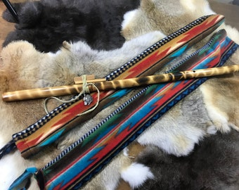 Flute Sock - long and skinny -- Native American Flute -- fleece bag pouch tote bag liner protection