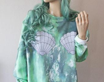 Mermaid Shell Tie Dye Sweater