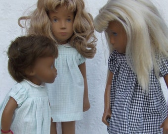 Short Sleeved Classic Gingham Dress Outfit for Sasha doll Girl, Toddler or Baby.