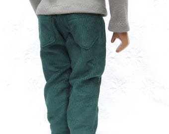 """Corduroy Jeans for 16/17"""" Sasha or Gregor Doll - Lots of Colours Available."""