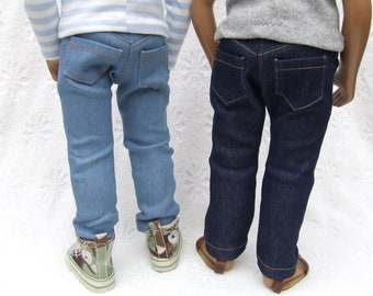 "Ready to Ship - Denim and Corduroy Jeans for 16/17"" Sasha or Gregor Doll - Lots of Colours Available."