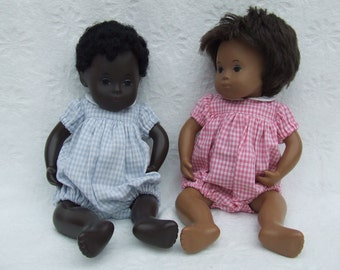 "Gingham Romper Outfit for 11/12"" Baby Sasha doll"