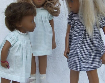 Choice of *Colour* Short Sleeved Classic Gingham Dress Outfit for Sasha doll Girl, Toddler or Baby.