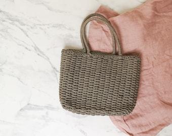 b103497760c7 Beige straw handbag