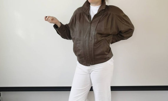 Brown leather jacket | 80s leather jacket | Soft l