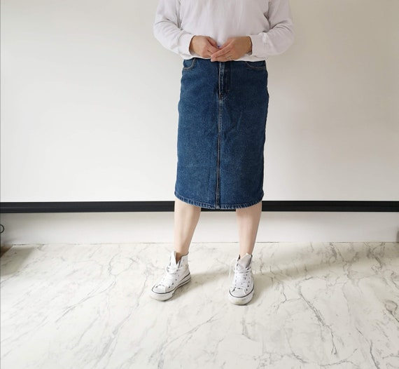 Blue denim skirt | Lindex 80s denim skirt | 80s je