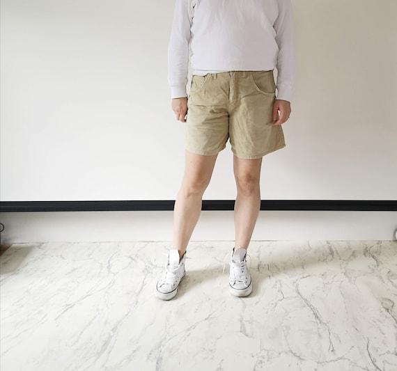 Light beige denim shorts | Bylot beige high waiste