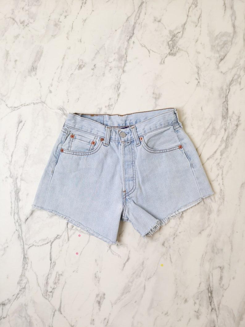 4f3537ed Levi's 501 vintage denim shorts W25 Light colored Levis | Etsy