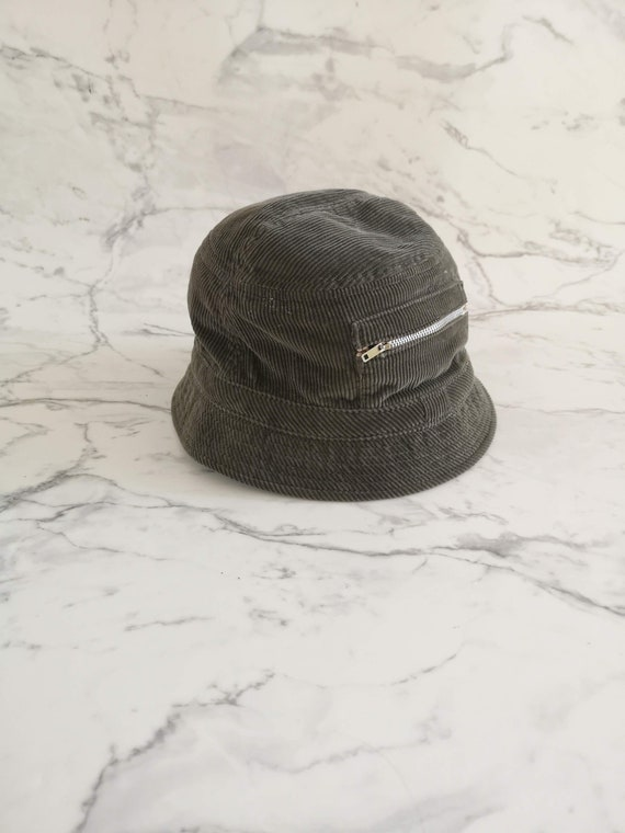 Green corduroy bucket hat | 90s bucket hat | Summe