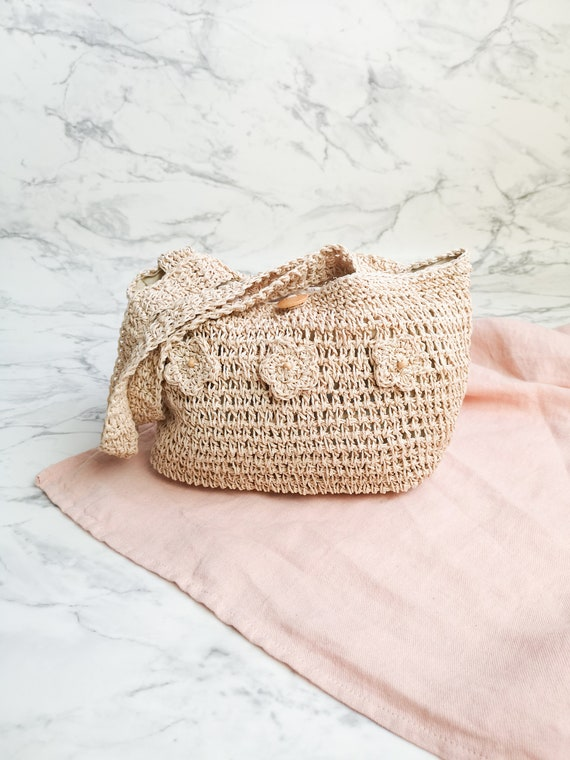 Natural straw bag | Straw woven bag | Boho straw h