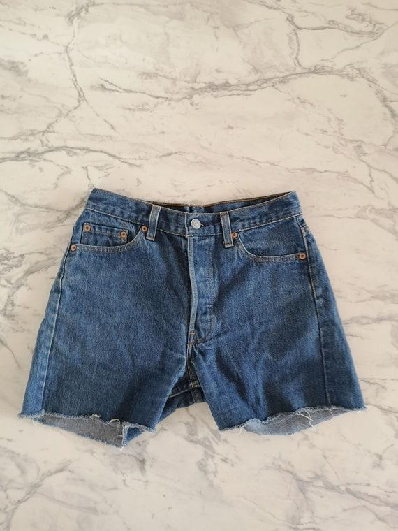 Blue Levi's 501 shorts | Levi's 501 high waisted s