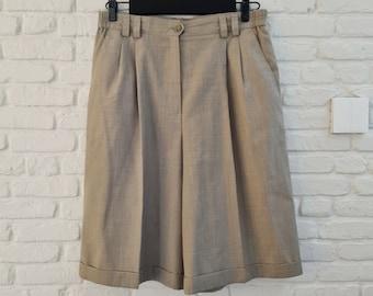Beige vintage 80s Gardeur shorts   High waisted shorts