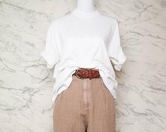 Vintage white basic t-shirt | White casual tshirt | White basic tee | Minimalistic white t shirt