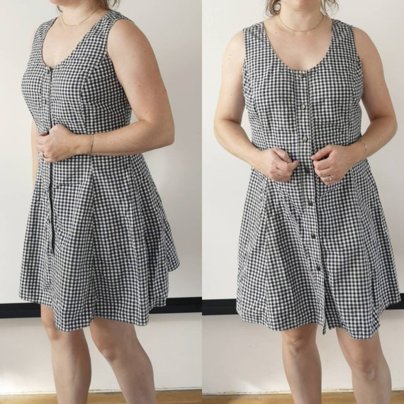 Trussardi 90s checkered dress | Gingham 90s dress