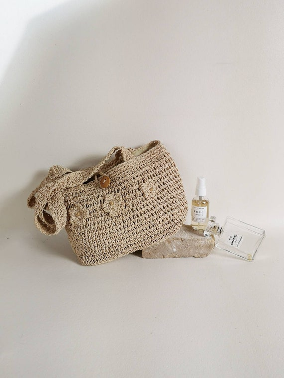 Natural straw bag | Straw woven bag | Boho straw h
