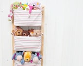 Nursery Storage Baskets - Kids Room Storage Nursery Bins - Diaper Caddy Wall Organizer - Change Table Storage Custom Organizer Baby Girl