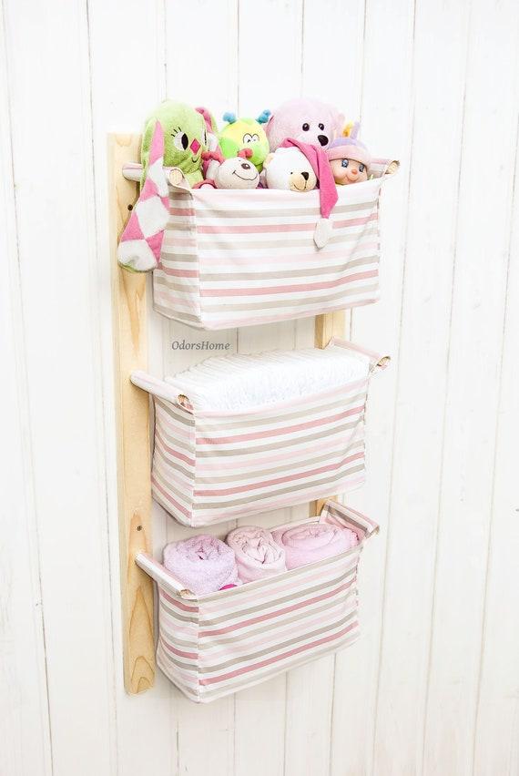 Toy Storage - Nursery Storage Bins - Wall mounted Kids Room Storage - Baby  shower gift - Kids furniture - Nursery basket - Hanging organizer
