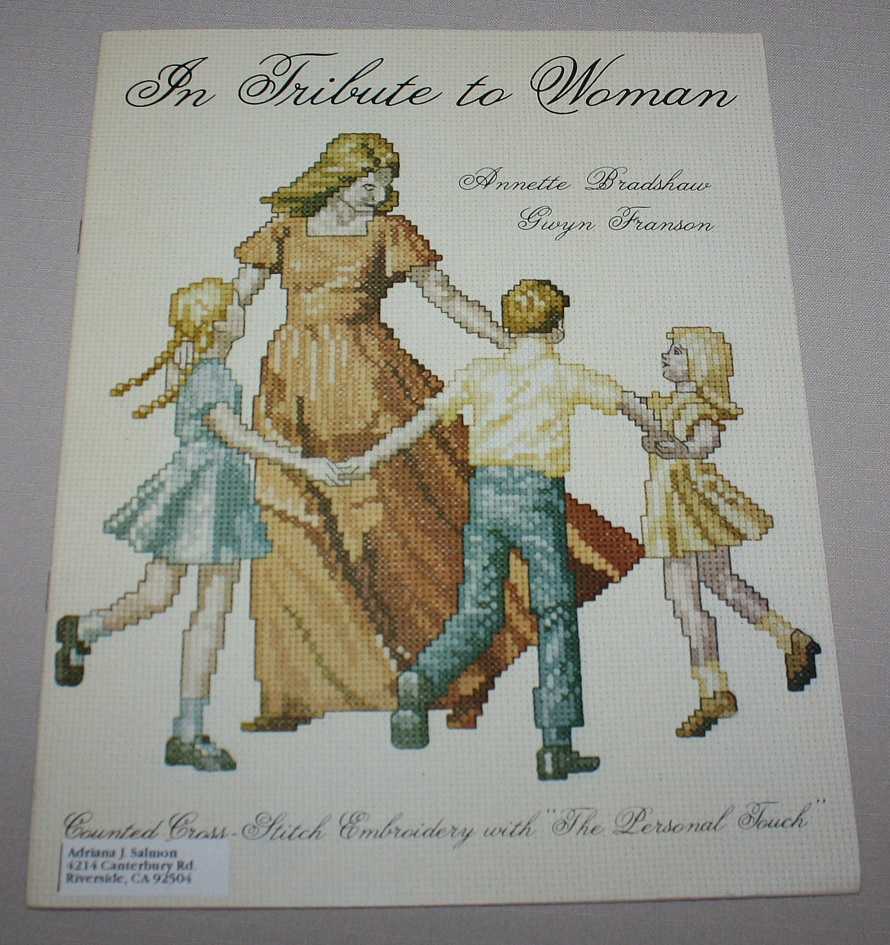 In Tribute To Woman Cross Stitch Embroidery 5 Pattern Booklet