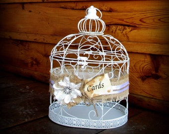 Wedding Birdcage - Card Holder - Card Box - Decorative Cage, Birthday Card Holder - Anniversary Card Holder - Gift Table - Wedding Decor