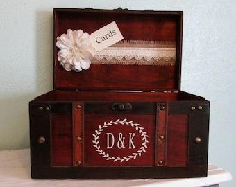 Wedding Card Box, Wedding Card Holder, Rustic Wedding Card Holder, Trunk Card Holder, Wedding Card Trunk, Gift Table Ideas, Card Box