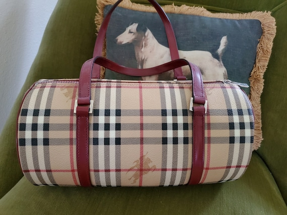 Vintage Burberry Red Leather Purse