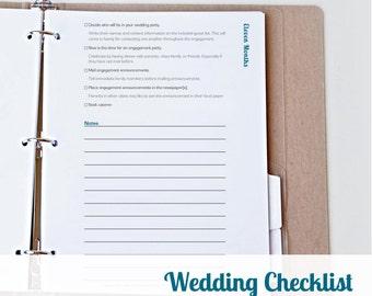 vendor printable wedding coordinator planner printable etsy