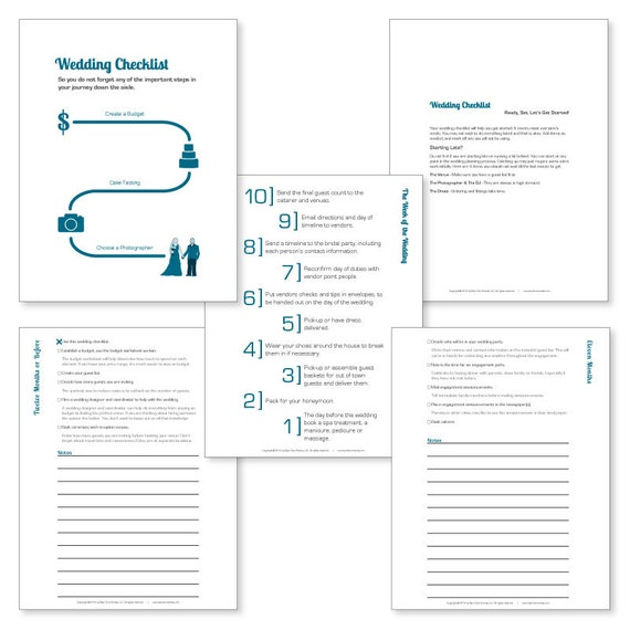 Printable 12 Month Wedding Checklist | Printable Wedding Planner