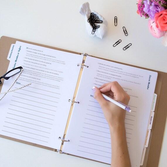 Hochzeit Planen Buch 3 Ring Hochzeit Planer Binder Etsy