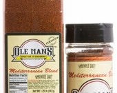 Award Winning Ole Man's Spice Rub & Seasoning Mediterranean Blend! 1-1 lb and 1-4.4 oz-Very Low Salt! Gluten Free! No MSG!