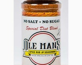 Award Winning! Ole Man's Spice Rub & Seasoning - New! Special Diet Blend NO Salt, No Sugar-1- 3.6 oz. Gluten Free! No MSG! Buy 2 Get 1 Free!