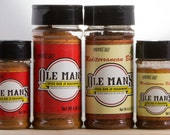 Award Winning Ole Man's Spice Rub & Seasoning Sampler Pack -2 Original and Mediterranean Blends-Very Low Salt! Gluten Free! Free Shipping!!
