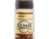 Award Winning! Ole Man's Spice Rub & Seasoning - Mediterranean Blend1- 1.9 oz! Gluten Free! Very Low Sugar!Free Shipping! Buy 2 Get 1 Free!
