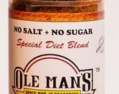Award Winning! Ole Man's Spice Rub & Seasoning. No Salt, No Sugar, Gluten Free. Buy 2 Get 1 Free!