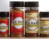 Award Winning Ole Man's Spice Rub & Seasoning Sampler Pack -2 Original and Mediterranean Blends-Very Low Salt! Gluten Free! Free Shipping!!