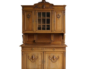 Antique French Hutch ~ French Renaissance Huntboard ~ China Cabinet ~ French Sideboard ~ French Vaisselier
