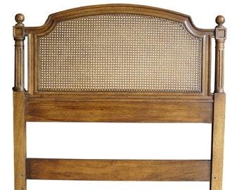 Twin Headboard ~  Cane Headboard ~ Vintage Bed ~ French Regency Twin Headboard by Henredon