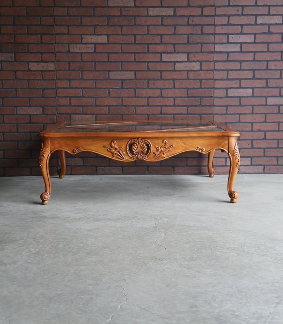 Coffee Table ~ Cocktail Table ~ Country French Coffee Table ~ Carved Coffee  Table ~ Legacy Coffee Table By Ethan Allen