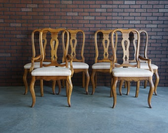 Splatback Dining Chairs ~ Dining Side Chairs ~ Dining Arm Chairs ~ Country French Dining Chairs by Ethan Allen