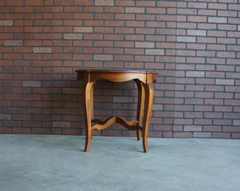 Country French End Table / Round End Table / Chairside Table / Maison End Table by Ethan Allen