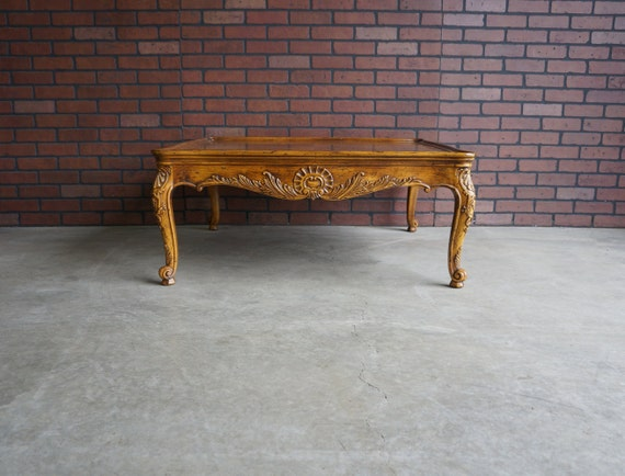 Coffee Table French Provincial Cocktail Table Country Etsy