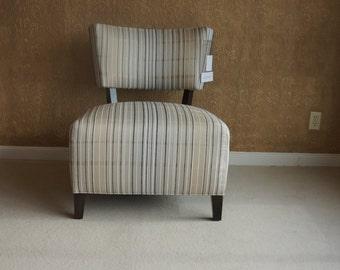 Armless Chair / Slipper Chair / Modern Chair Accent Chair / Delaney Chair  By Ethan Allen
